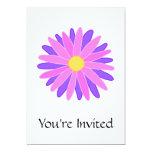 Flor colorida brillante. Rosa y púrpura Invitaciones Personales