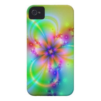 Flor colorida con las cintas carcasa para iPhone 4