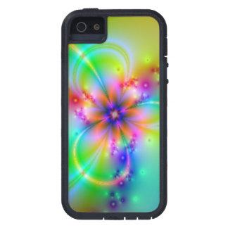 Flor colorida con las cintas iPhone 5 carcasa