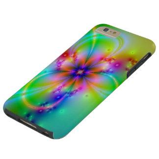 Flor colorida con las cintas funda resistente iPhone 6 plus