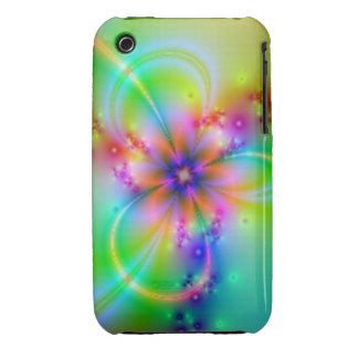 Flor colorida con las cintas iPhone 3 fundas