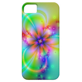 Flor colorida con las cintas iPhone 5 fundas