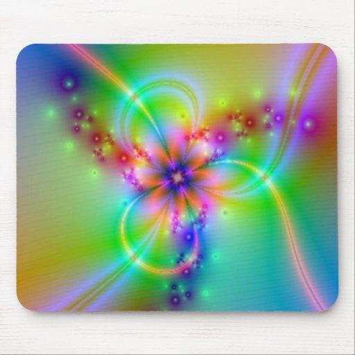 Flor colorida con las cintas alfombrilla de ratón