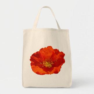 Flor colorida de la amapola roja de Alaska Bolsa Tela Para La Compra