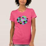 flor colorida de la diversión camisetas