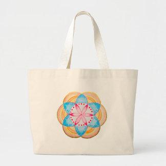 Flor colorida de la mandala pintada a mano bolsa