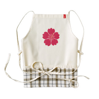 Flor colorida del hibiskus delantal zazzle HEART
