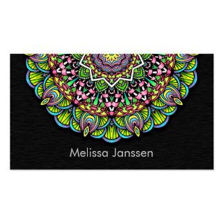 Flor colorida - Mandala Tarjetas De Visita