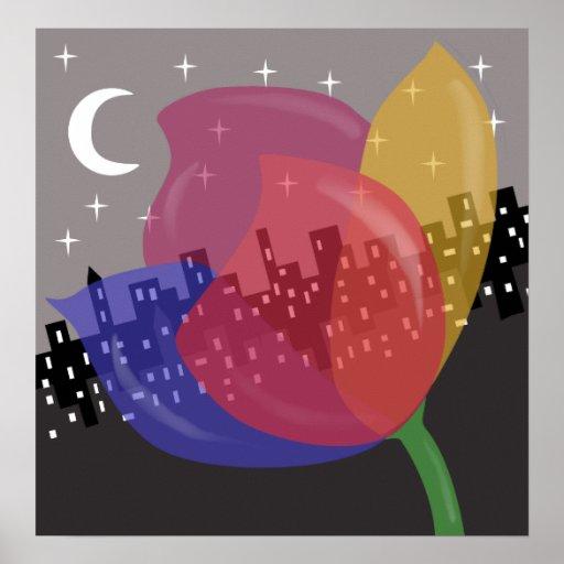 Flor colorida póster