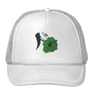 Flor colorized verde mexicano de la petunia gorro de camionero