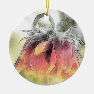 Flor combinada marchitada ornamentos de navidad