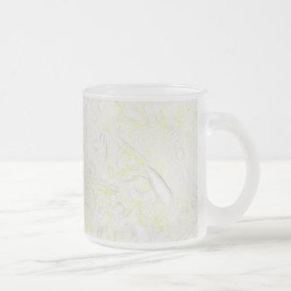 Flor combinada taza de cristal