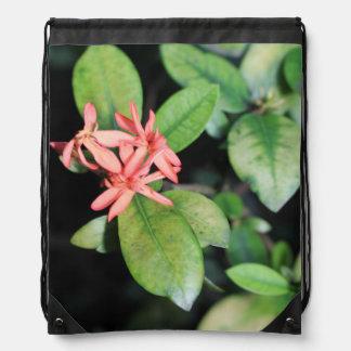 Flor coralina exótica tropical, bolso de lazo de mochilas
