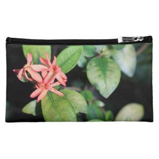 Flor coralina exótica tropical, bolso del