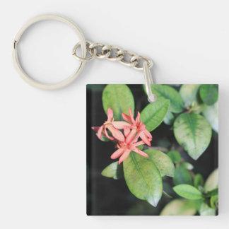 Flor coralina exótica tropical, llavero del