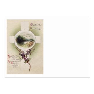 Flor cruzada cristiana de la púrpura del río tarjeta personal