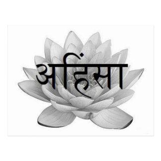 Flor de Ahimsa Lotus Tarjetas Postales