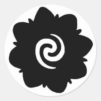 flor de Borneo Pegatina Redonda