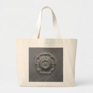 flor de bronce bolsas lienzo