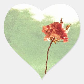 Flor de Brooklyn Pegatina En Forma De Corazón