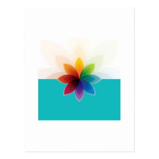 flor de c tarjeta postal