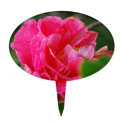 Flor de Camelia de las rosas fuertes Figuras Para Tartas