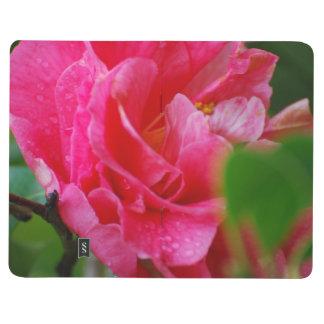Flor de Camelia de las rosas fuertes Cuaderno