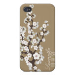Flor de cerezo 4 (chocolate) iPhone 4 protector