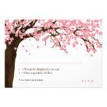 Flor de cerezo/acuarela RSVP de Sakura Comunicado Personal