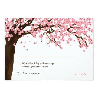 "Flor de cerezo/acuarela RSVP de Sakura Invitación 3.5"" X 5"""