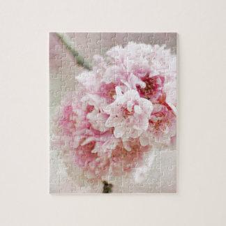 Flor de cerezo botánica rompecabeza con fotos