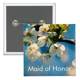Flor de cerezo • Botón del boda Pins