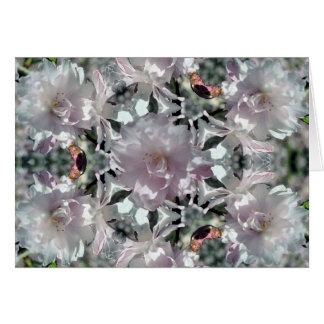 Flor de cerezo caleidoscópica tarjeta pequeña