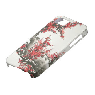 Flor de cerezo china iPhone 5 funda