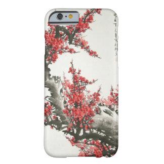 Flor de cerezo china funda de iPhone 6 barely there