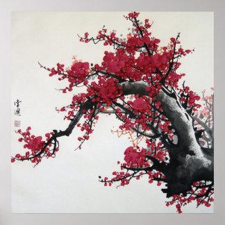 Flor de cerezo china impresiones