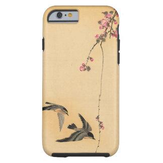 Flor de cerezo con los pájaros de Ohara Koson Funda De iPhone 6 Tough