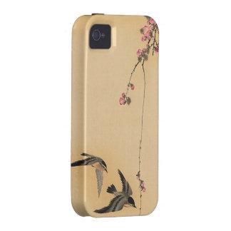 Flor de cerezo con los pájaros de Ohara Koson Vibe iPhone 4 Carcasas