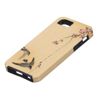 Flor de cerezo con los pájaros de Ohara Koson iPhone 5 Case-Mate Carcasas