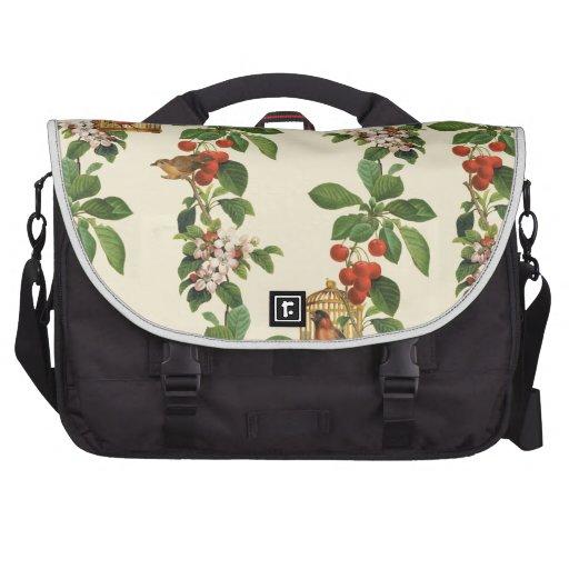 Flor de cerezo con los pájaros para el verano prec bolsas de portátil