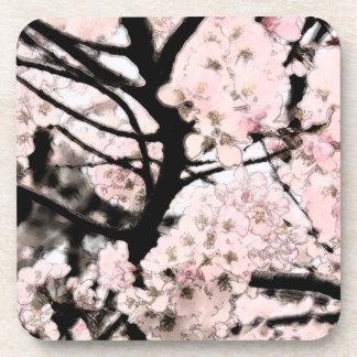 Flor de cerezo corregida posavasos