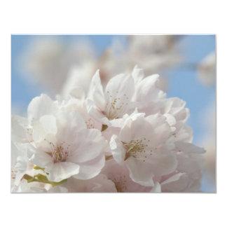 """Flor de cerezo de la primavera invitación 4.25"""" x 5.5"""""""