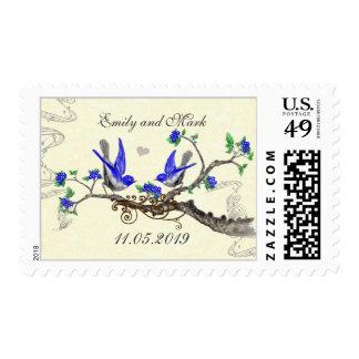 Flor de cerezo de los Bluebirds en el franqueo