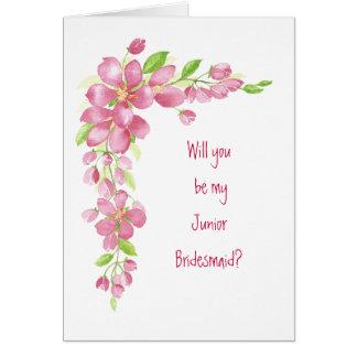 Flor de cerezo del vintage que casa a la dama de h tarjeta de felicitación