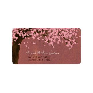 Flor de cerezo/dirección de la acuarela de Sakura  Etiquetas De Dirección