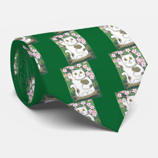 Flor de cerezo dulce Neko Corbatas Personalizadas