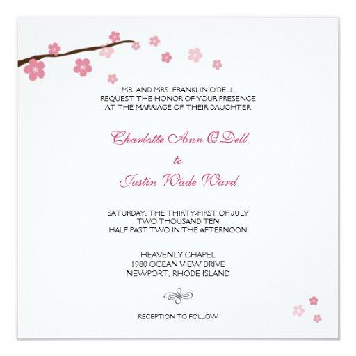 flor de cerezo; el casarse comunicados personales