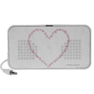 Flor de cerezo en forma de corazón iPod altavoz