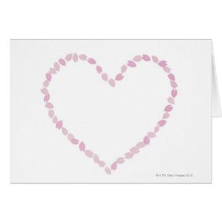 Flor de cerezo en forma de corazón tarjeta de felicitación
