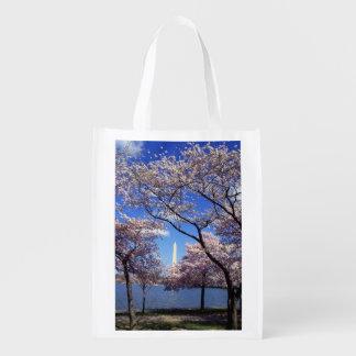 Flor de cerezo en foto del Washington DC Bolsas Reutilizables